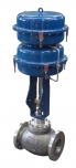 Control valve type Z1A DN150 with tandem pneumatic actuator type R1500T POLNA